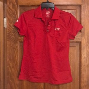 Audi branded red shirt small